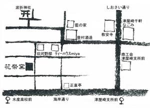 津屋崎千軒の花祭窯近隣地図