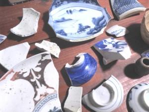 古伊万里の陶片