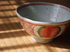 錦赤玉文茶碗(藤吉憲典作)