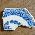 津屋崎陶片ミュージアム:H290712染付のお皿。丁寧な仕事。