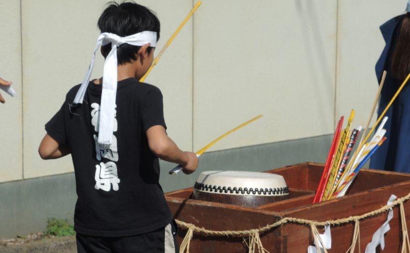 おくんちの太鼓の練習が始まりました。