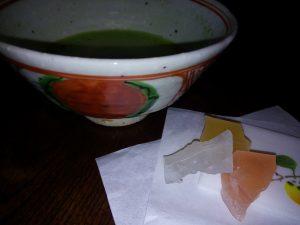 藤吉憲典 赤玉文茶碗