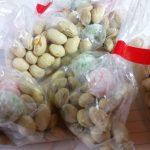 波折神社の豆まき。