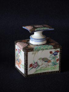 金襴手角瓶 藤吉憲典