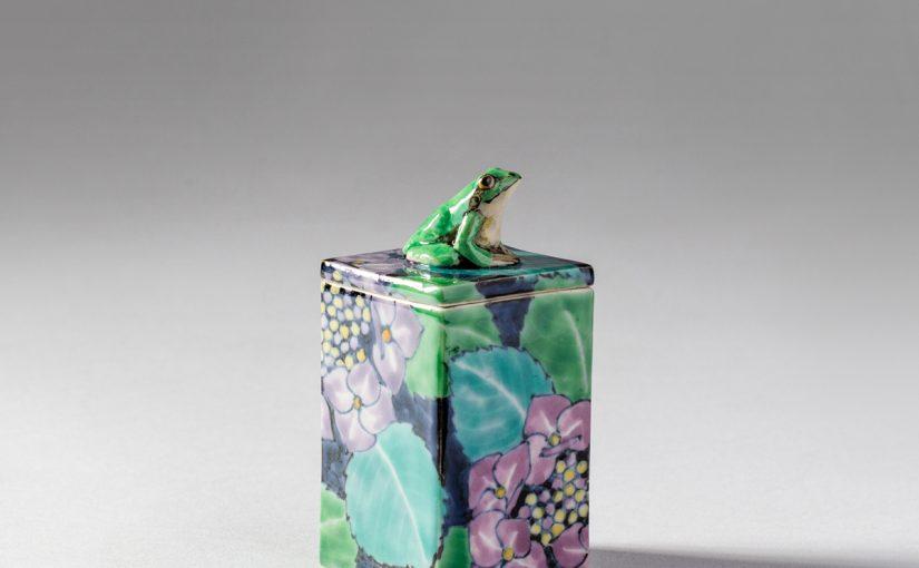 紫陽花とアマガエル。