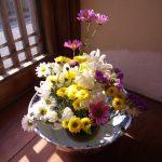 お正月に生けたお花が長持ちしているので。