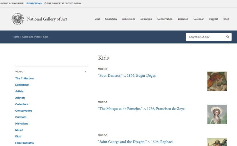 National Gallery of Art, Washingtonの、子ども向けビデオ教材。