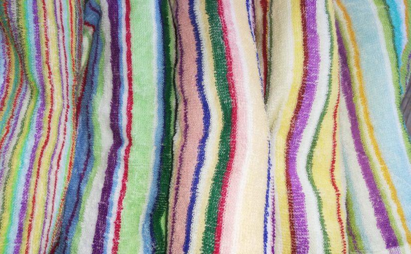 新しいタオルのしあわせ。