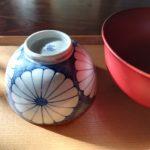 年末に、ご飯茶碗とお椀を新しく。