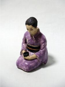 色絵磁器人形 藤吉憲典